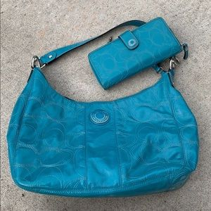 Authentic Coach Bag and Matching Wallet